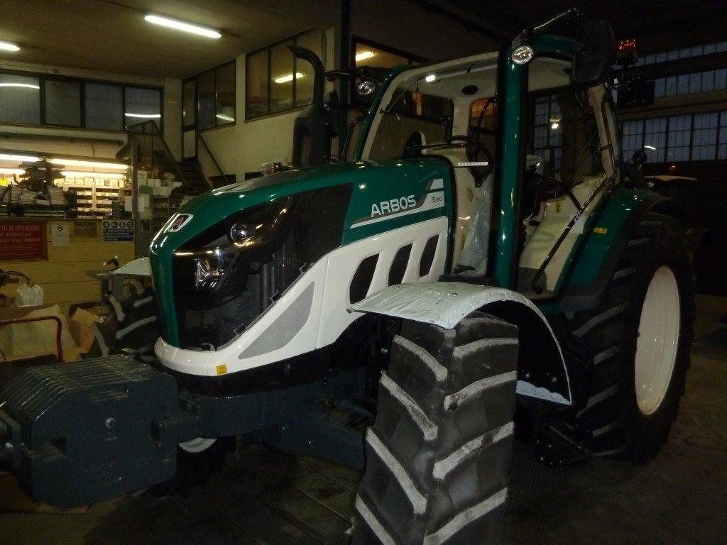 Impianto di frenatura idraulico e pneumatico su trattore Arbos 5130